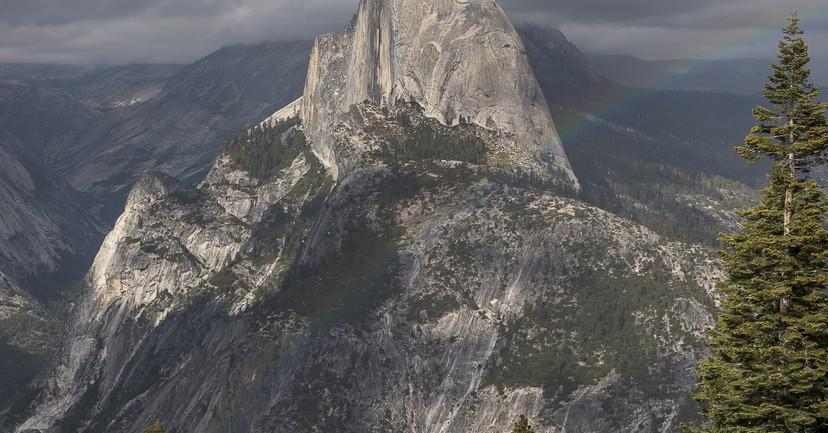 Half Dome Rainbow: Yosemite Photos 2015.05.22